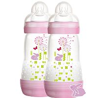 DOUBLE PACK FIRST BOTTLE 260ML GIRLS ROSA - MAM