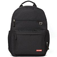 BOLSA MATERNIDADE DUO SIGNATURE BACKPACK HEATHER BLACK - SKIP HOP