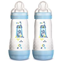 KIT 2 MAMADEIRAS DOUBLE PACK FIRST BOTTLE 320ML AZUL CACHORRO - MAM