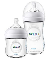 KIT MAMADEIRA ANTI-CÓLICA PÉTALA 125ML + 260ML TRANSPARENTE - AVENT
