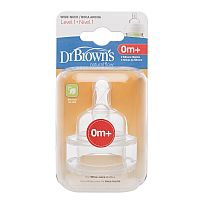 BICOS DE SILICONE OPTIONS FASE 1 PARA MAMADEIRA BOCA LARGA - DR BROWNS