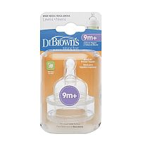 BICOS DE SILICONE OPTIONS FASE 4 PARA MAMADEIRA BOCA LARGA - DR BROWNS