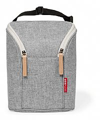 BOLSA TÉRMICA PARA MAMADEIRA DOUBLE BOTTLE BAG GREY MELANGE - SKIP HOP