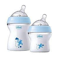 CONJUNTO DE MAMADEIRAS STEP UP 150 ML E 250 ML AZUL - CHICCO