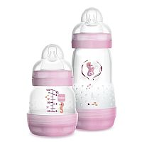 KIT 2 MAMADEIRAS EASY START ANTICÓLICA 130ML E 260ML  ROSA - MAM