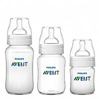 KIT 3 MAMADEIRAS CLASSIC ANTI-COLIC 125ML + 260ML + 330ML - AVENT