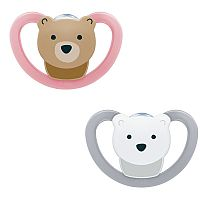 KIT CHUPETA 0-6M SPACE URSO ROSA - NUK