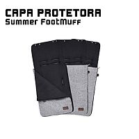 SUMMER FOOTMUFF (CAPA PROTETORA + SACO DE DORMIR) GRAPHITE GREY -ABC DESIGN
